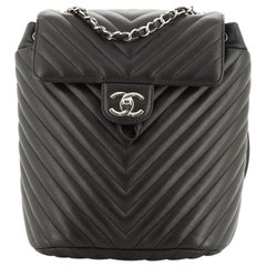 Chanel Urban Spirit Backpack Chevron Lambskin Small