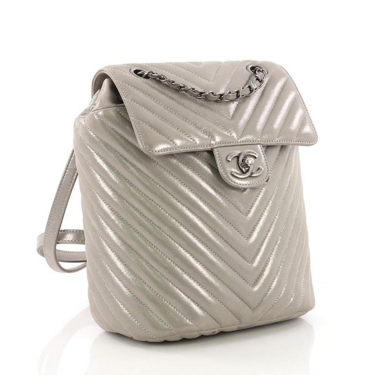 ca94afbcf833 Brown Chanel Urban Spirit Backpack Iridescent Chevron Calfskin Small For  Sale