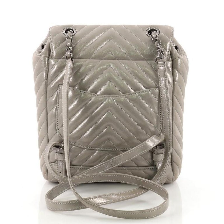 eb13c71652ff Chanel Urban Spirit Backpack Iridescent Chevron Calfskin Small In Good  Condition For Sale In New York