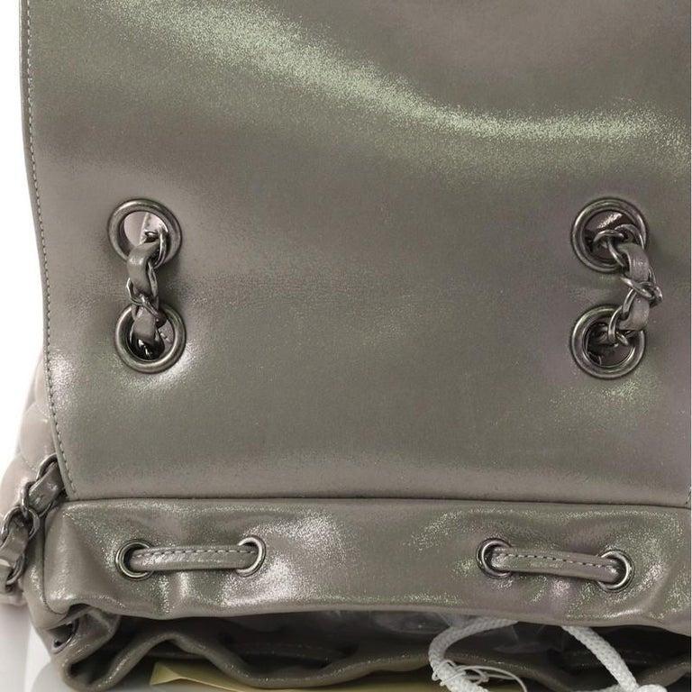 55aa4cc6a1ff Chanel Urban Spirit Backpack Iridescent Chevron Calfskin Small For Sale 4