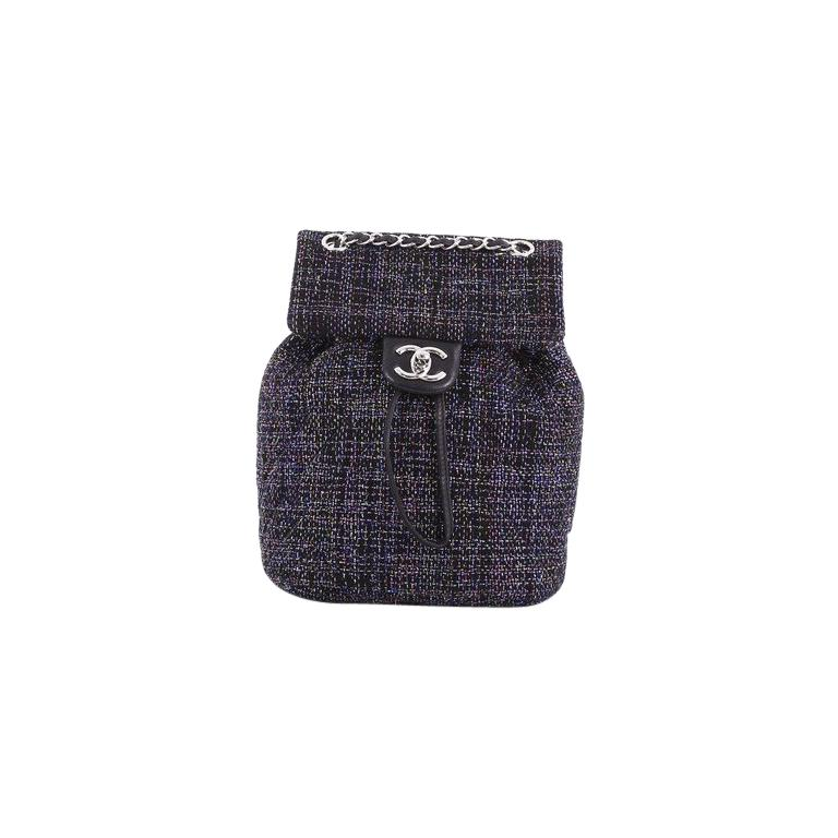 Chanel Urban Spirit Backpack Quilted Tweed Small For Sale