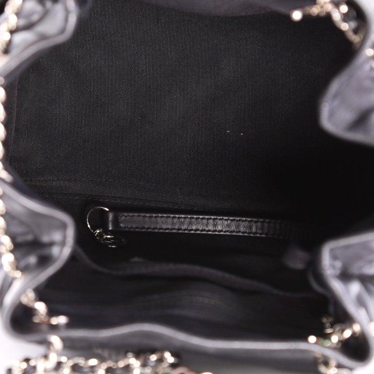 Chanel Urban Spirit Drawstring Bag Chevron Calfskin Small For Sale ... 4eb136671d922