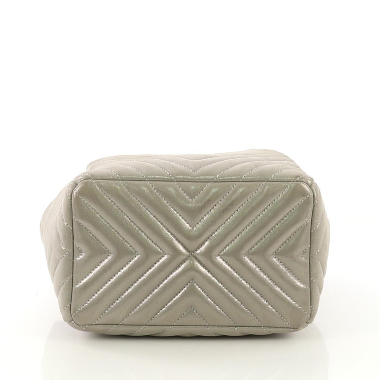 Chanel Urban Spirit Drawstring Bag Iridescent Chevron
