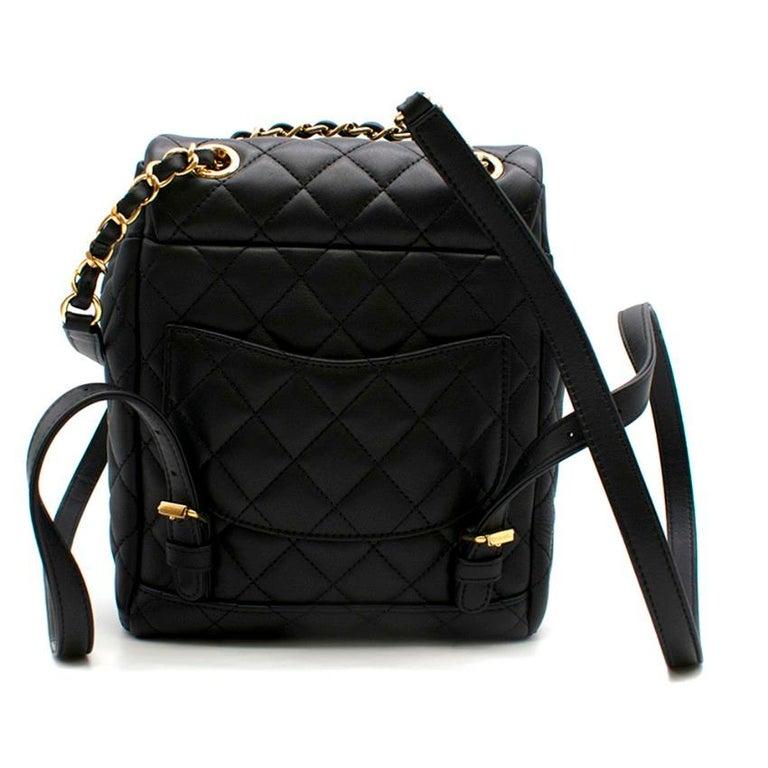 Black Chanel Urban Spirit Mini Quilted Backpack