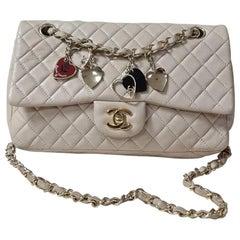 Chanel Valentine Beige Lambskin Leather Flap Shoulder Bag