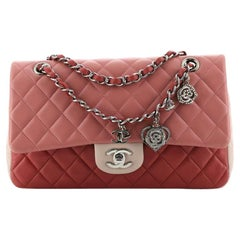 Chanel Valentine Crystal Hearts Flap Bag Quilted Lambskin Medium