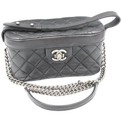 Chanel Vanity Boy bag in black leather