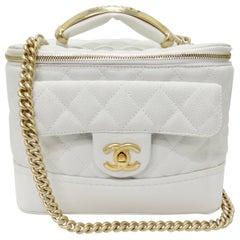 Chanel Vanity White Globe Trotter Bag 2013 Fall/Winter