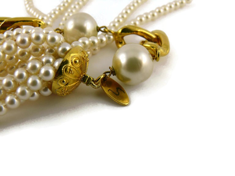 Chanel Vintage 1988 Pearl Tassel Chain Belt For Sale 7