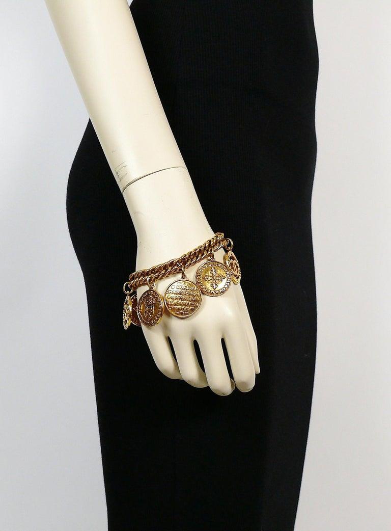 3d1576f873ce9 Chanel Vintage 1993 Gold Toned Coin Charm Bracelet