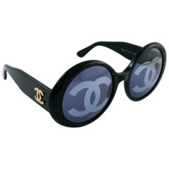 Chanel Vintage 1993 Iconic CC Lenses Black Sunglasses