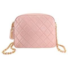 Chanel Vintage 1994 Light Pink Lambskin CC Camera Bag