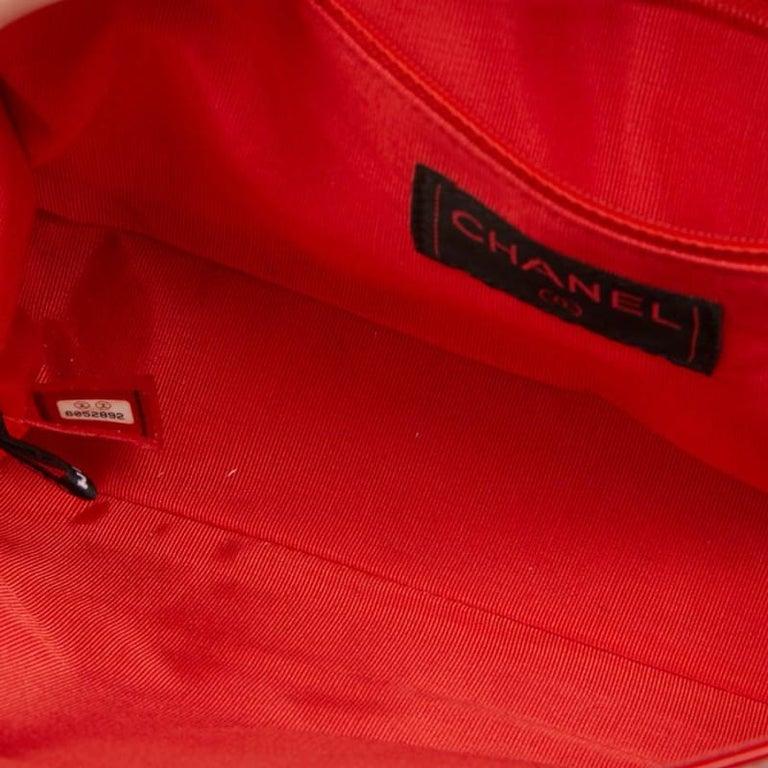 CHANEL Vintage 2.55 Red Varnished Bag  For Sale 8