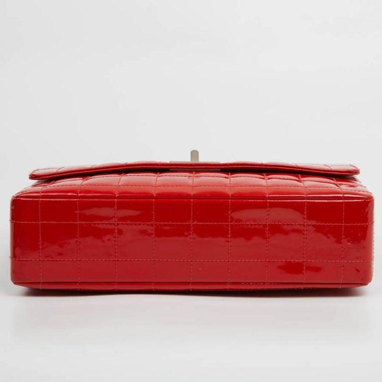 CHANEL Vintage 2.55 Red Varnished Bag  For Sale 2