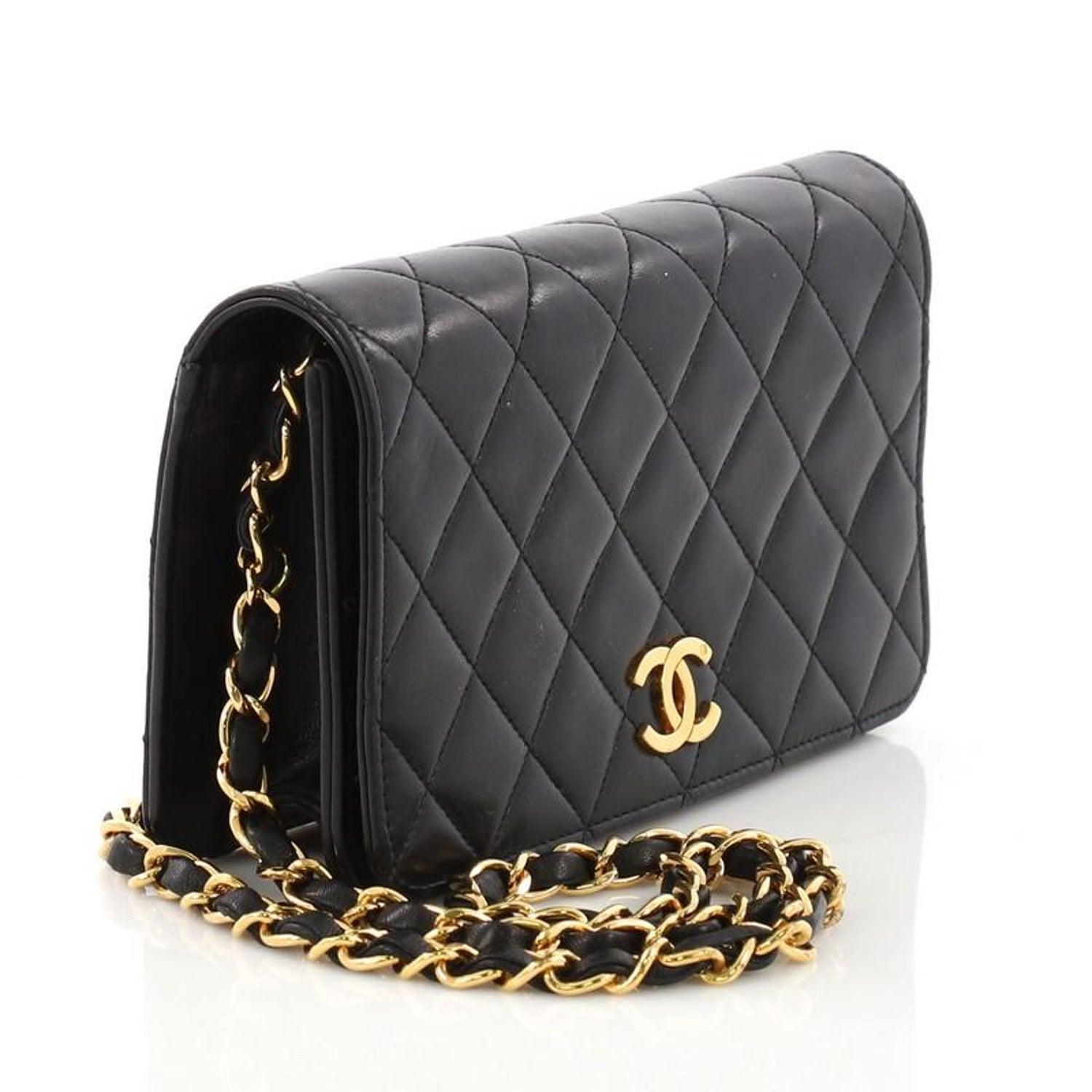 20f51147be4a Chanel Vintage 3 Way Full Flap Bag Quilted Lambskin Mini at 1stdibs