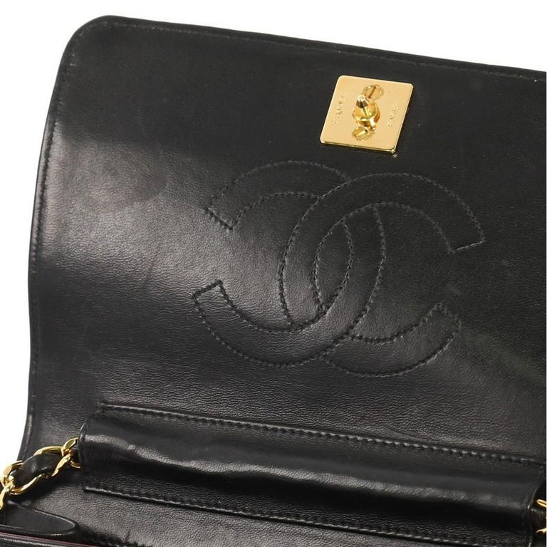 502d3fbdf545 Chanel Vintage 3 Way Full Flap Bag Quilted Lambskin Mini For Sale 2