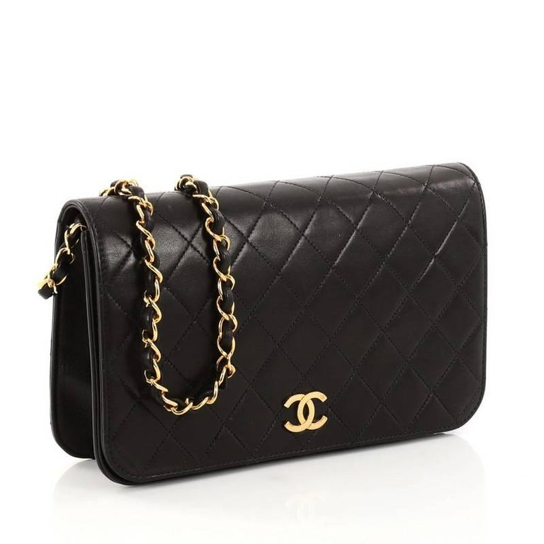 4a5b9f67400c15 Chanel Vine 3 Way Full Flap Bag Quilted Lambskin Small At 1stdibs. Chanel  Black Quilted Lambskin Small Vine Clic Double Flap Bag Nextprev Prevnext