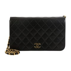 Chanel Vintage 3 Way Full Flap Bag Quilted Lambskin Small