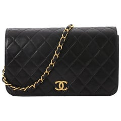 1c85364e6337 Chanel Vintage 3 Way Full Flap Bag Quilted Lambskin Small