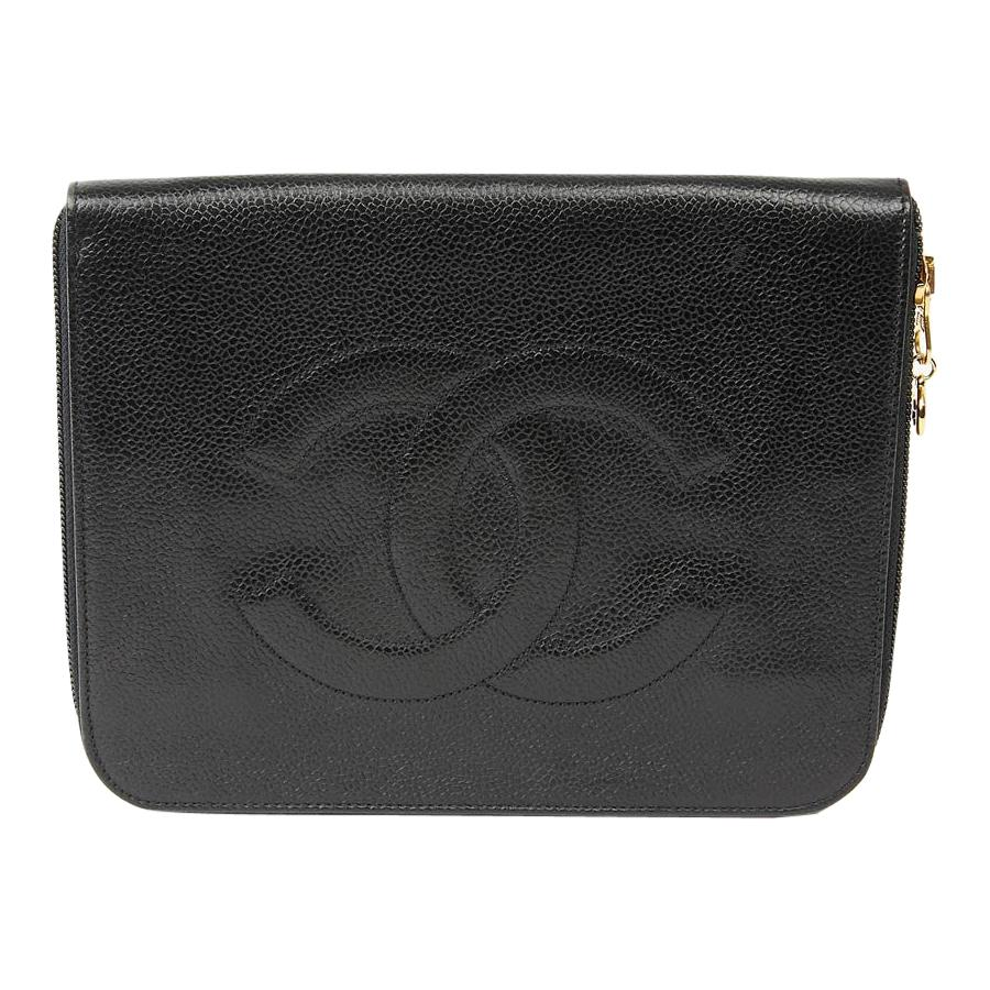 Chanel Vintage 90'S black Clutch Grained Leather