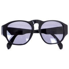 Chanel Vintage 90's Black Logo Sunglasses