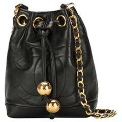Chanel Vintage 90's Mini CC Drawstring Shoulder Bag