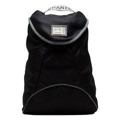 Chanel Vintage 90's Rare Mini Mesh Sport Gym Black Microfiber Nylon Backpack