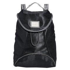 Chanel Vintage Rare Mini Mesh Sport Gym Black Microfiber Nylon Backpack