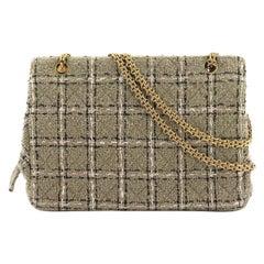 Chanel Vintage 90's Tweed Beige Classic Reissue Tote Bag