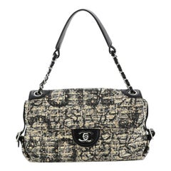 Chanel Vintage Belted CC Chain Flap Bag Painted Tweed Medium