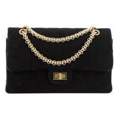 Chanel Vintage Bijoux Chain Mademoiselle Flap Bag Quilted Suede Medium