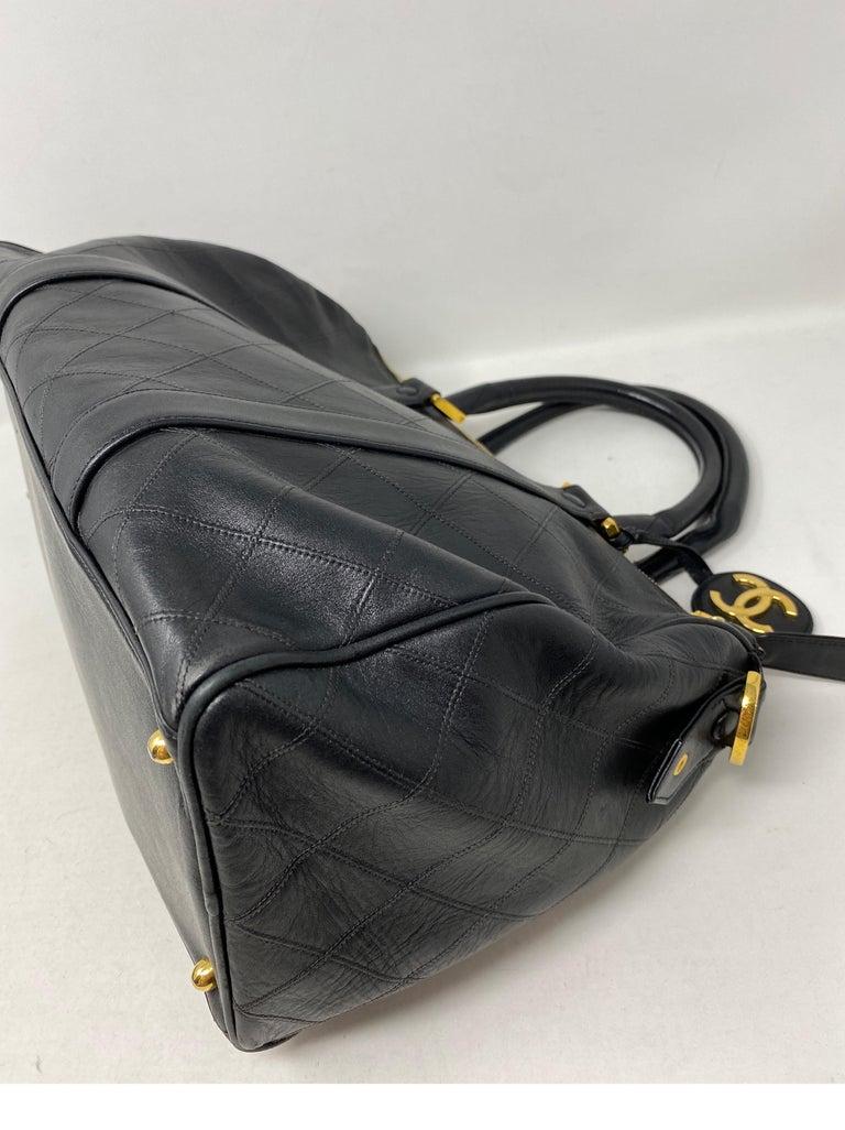 Chanel Vintage Black Boston Bag  6