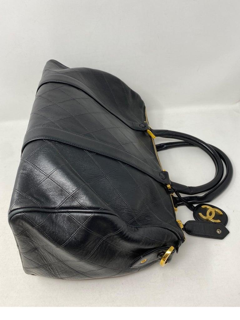 Chanel Vintage Black Boston Bag  7