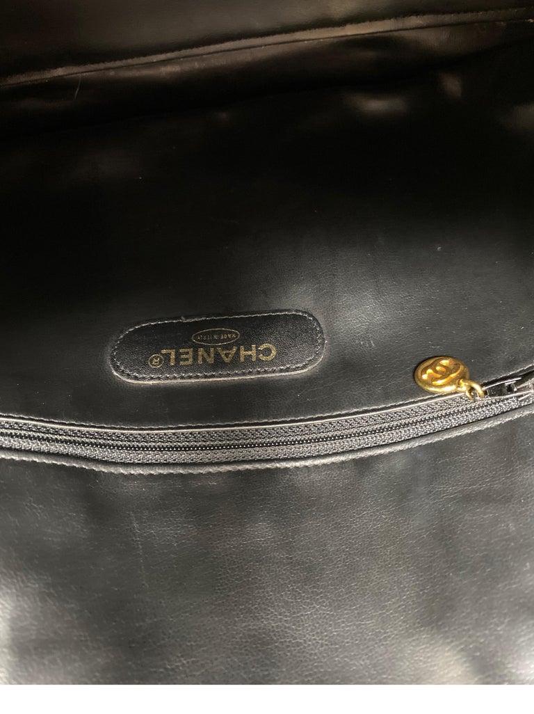 Chanel Vintage Black Boston Bag  9