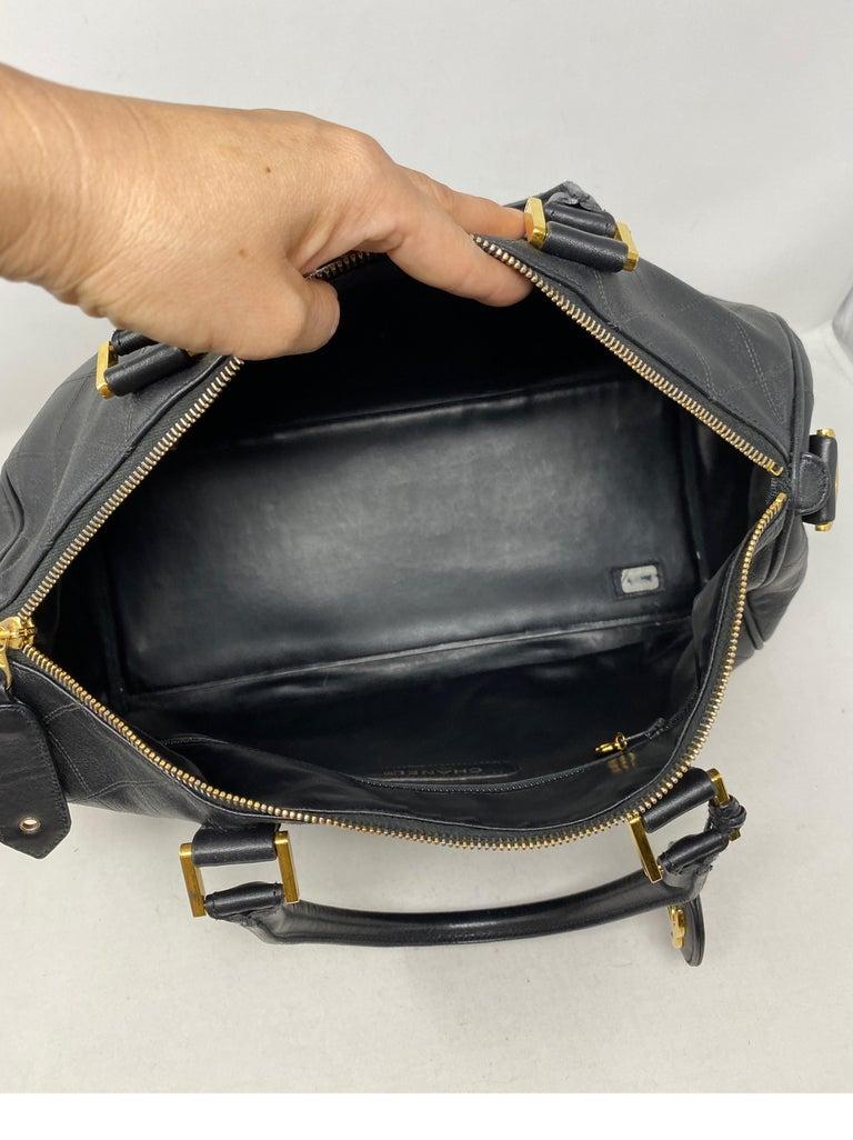 Chanel Vintage Black Boston Bag  11