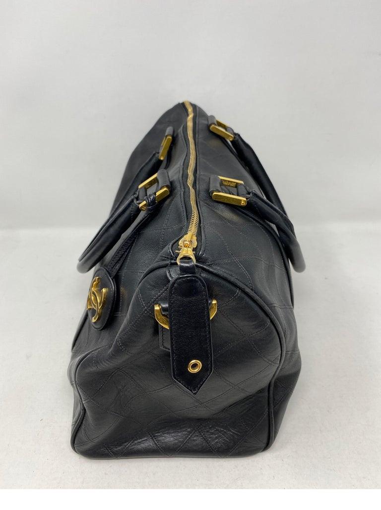 Chanel Vintage Black Boston Bag  In Fair Condition In Athens, GA
