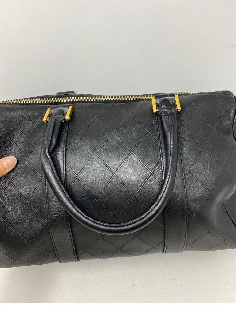 Women's or Men's Chanel Vintage Black Boston Bag