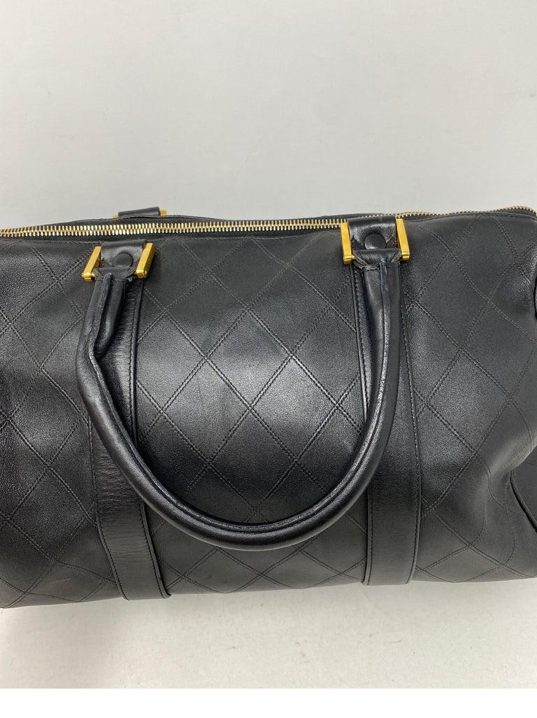 Chanel Vintage Black Boston Bag  1