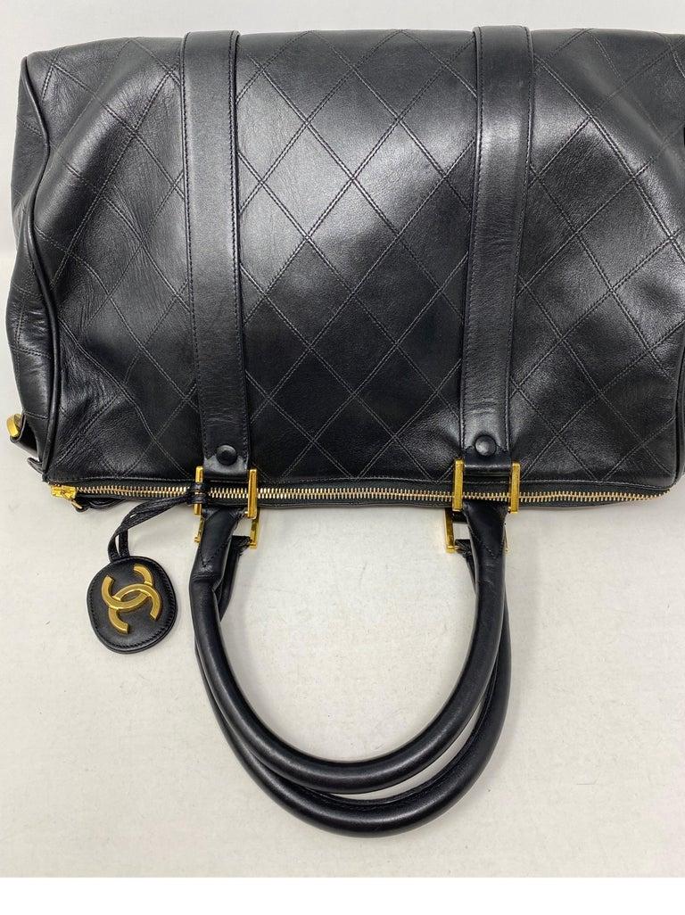 Chanel Vintage Black Boston Bag  2