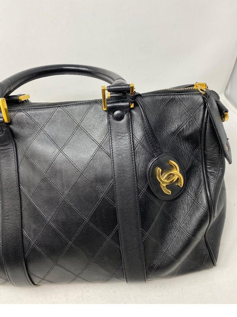 Chanel Vintage Black Boston Bag  3