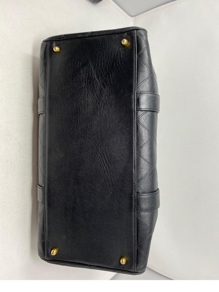 Chanel Vintage Black Boston Bag  4