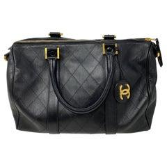 Chanel Vintage Black Boston Bag