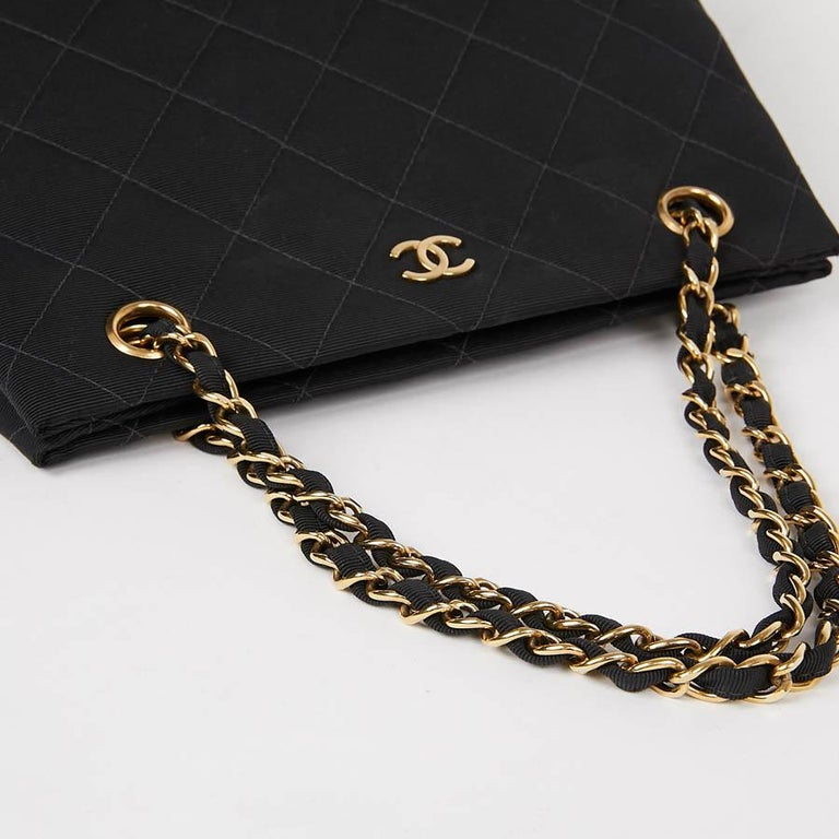 CHANEL Vintage Black Fabric Bag  6