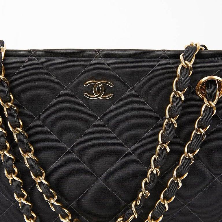 CHANEL Vintage Black Fabric Bag  7