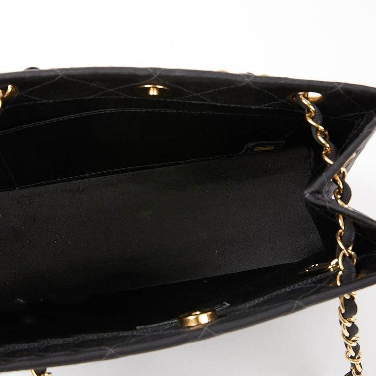 CHANEL Vintage Black Fabric Bag  8