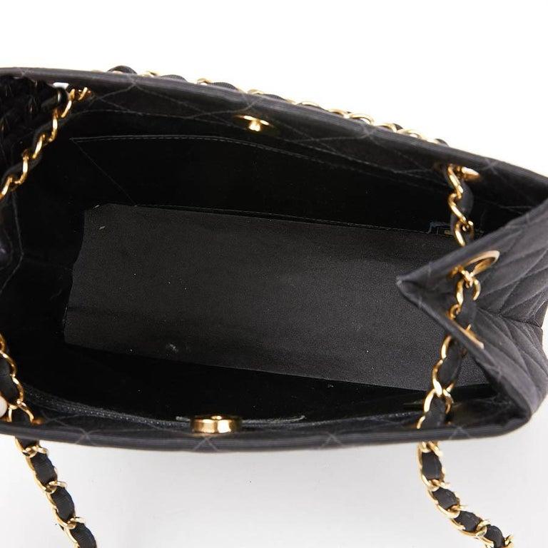 CHANEL Vintage Black Fabric Bag  9