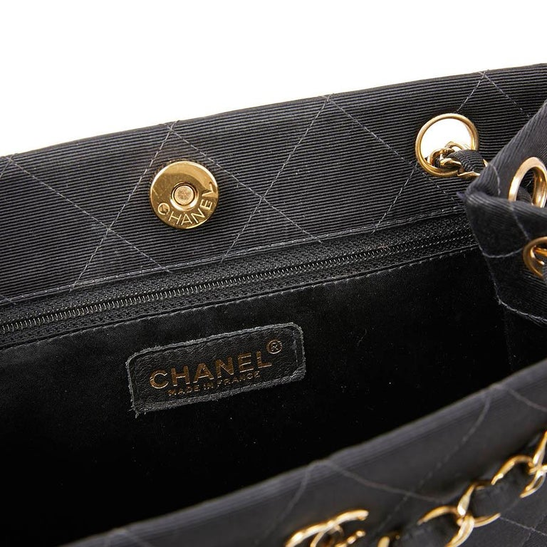 CHANEL Vintage Black Fabric Bag  10
