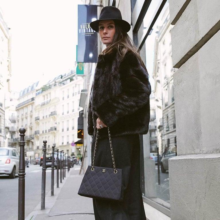 Women's CHANEL Vintage Black Fabric Bag