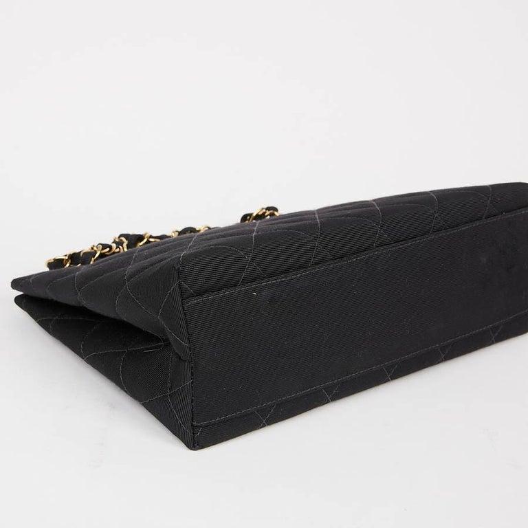 CHANEL Vintage Black Fabric Bag  3