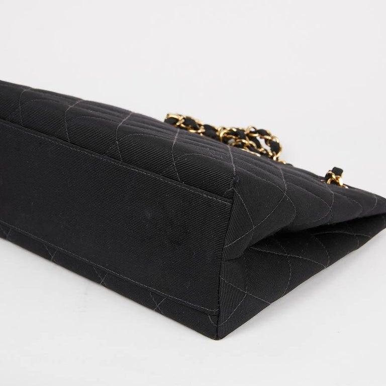 CHANEL Vintage Black Fabric Bag  5